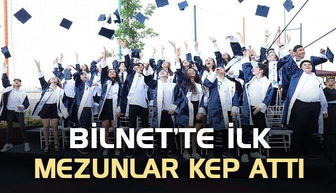 BİLNET'te ilk mezunlar kep attı