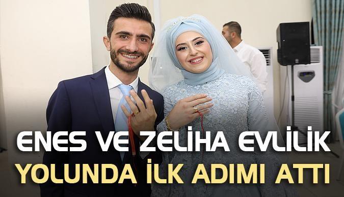 Enes ve Zeliha evlilik yolunda ilk adımı attı
