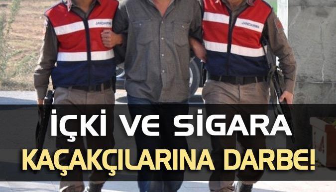 İçki ve sigara kaçakçılarına darbe!