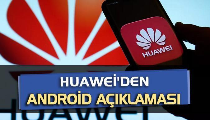Huaweiden Android açıklaması
