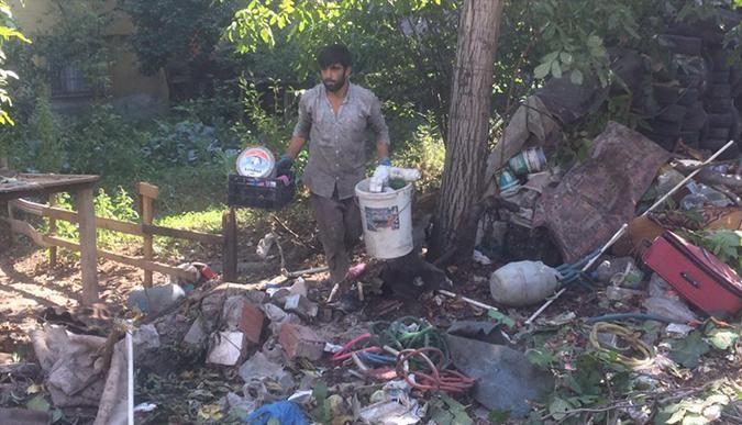Darıcadaki çöp ev temizlendi