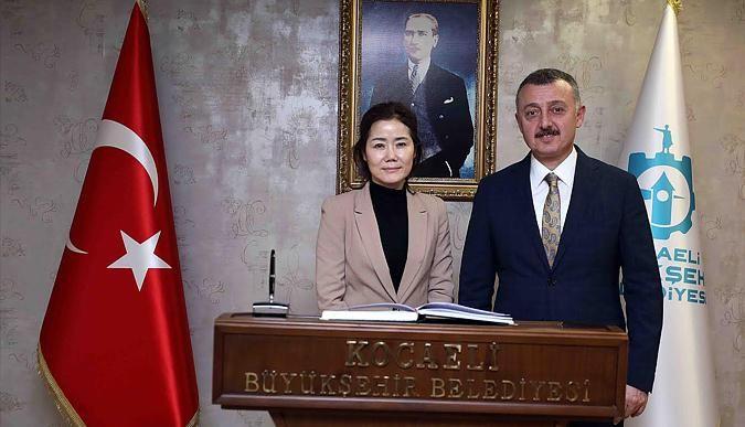 Başkan, Güney Kore Başkonsolosunu ağırladı