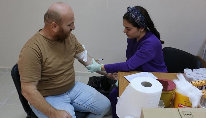 Belediye personeline sağlık taraması