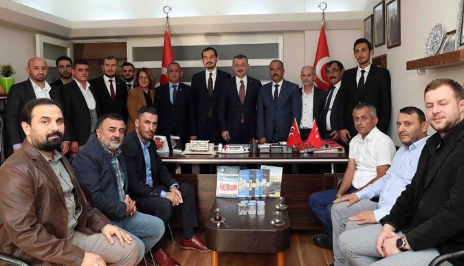 Büyükakın'dan, MHP ilçeye ziyaret