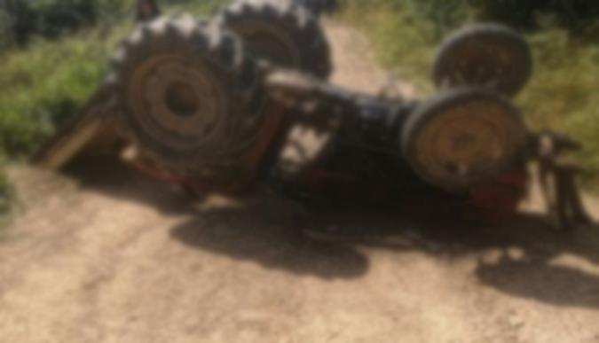 Traktör kazası: 1 ağır yaralı!