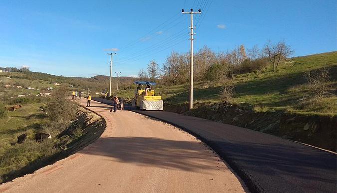 Körfez köy yolları konforlu hale geliyor