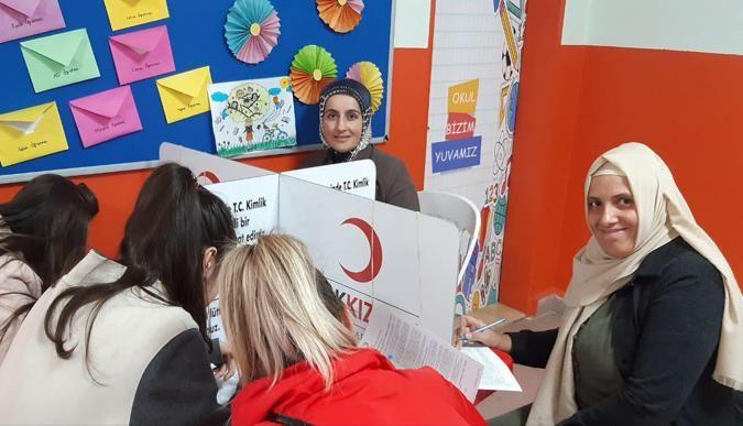 Rabak İlkokulu'ndan Kızılay'a kan bağışı