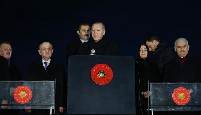 Erdoğan, Herekede vatandaşlara hitap etti