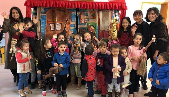 Karaabdülbakili çocuklar müzikli kukla gösterisi