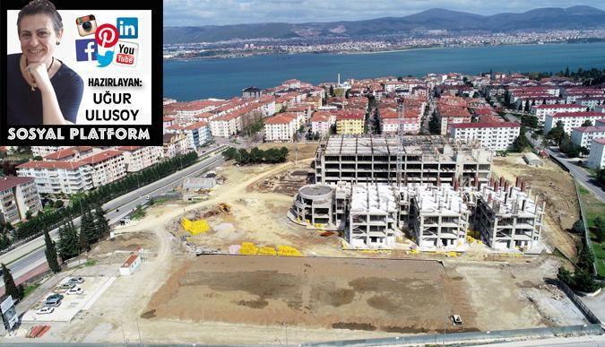 Gölcük'te devlet hastanesi inşaatı hızla devam ediyor