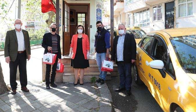 Taksicilere sağlık kiti desteği