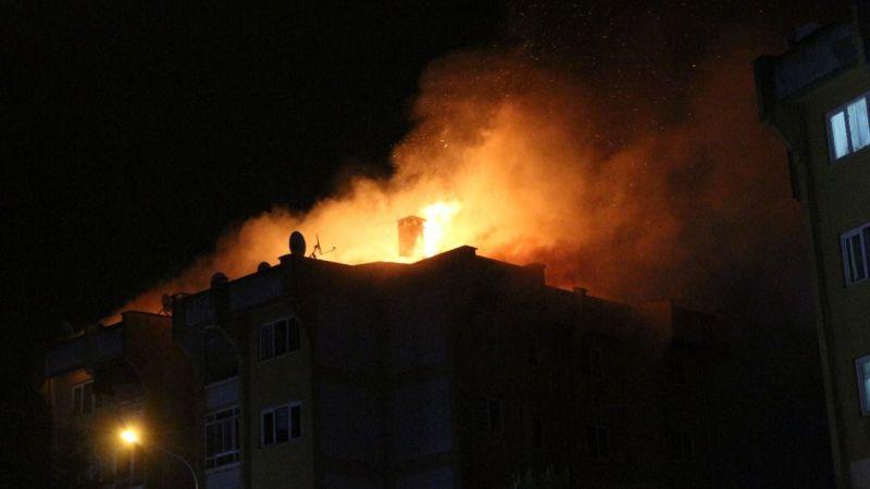 Ailesi ile tartışıp evi ateşe veren şahıs gözaltına alındı