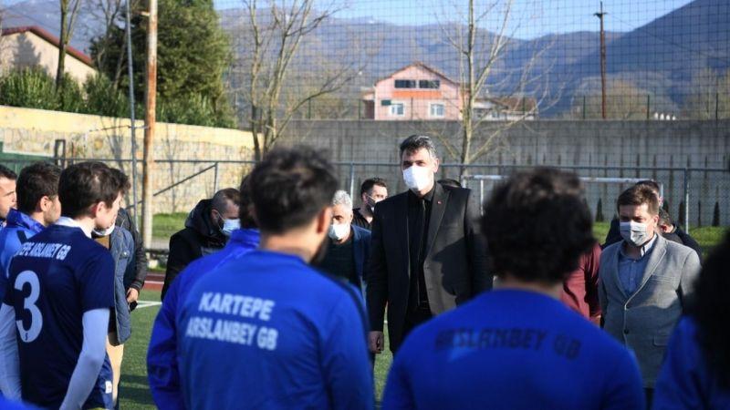 Kocaman'dan Arslanbey Gençlerbirliğispor'a motivasyon ziyareti