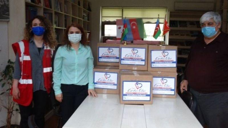 TADEF aracı oldu Azerilere yardım kolisi gitti