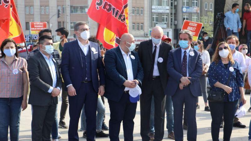 1 Mayıs kutlamalarında Hürriyet'in mesajı okundu