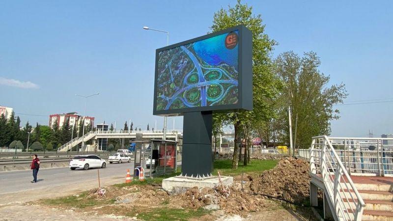Başiskele'ye Dev LED Ekran
