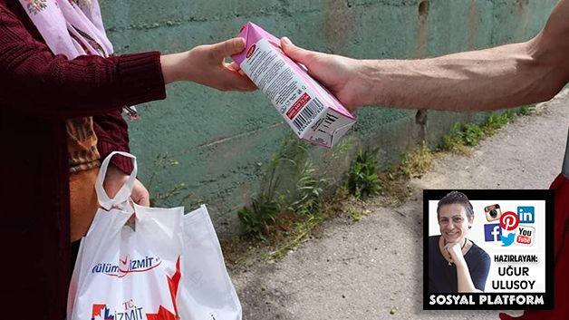 İzmit Belediyesi süt dağıtıyor