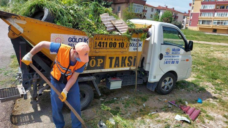 Çöp taksiler kesintisiz görev yapıyor