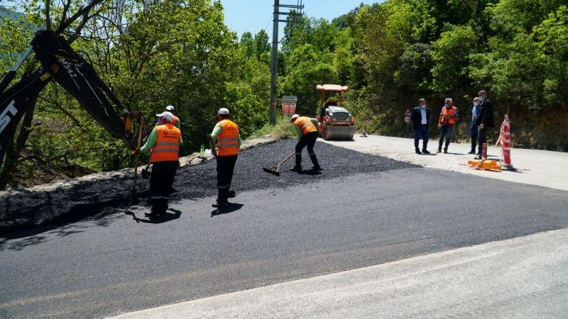 Gölcük'te asfalt seferberliği sürüyor