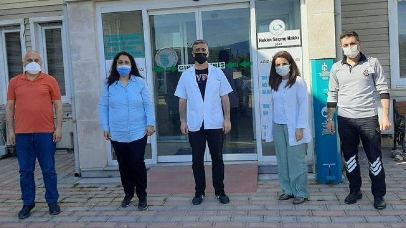 Salih'ten nöbetçi ekibe ziyaret