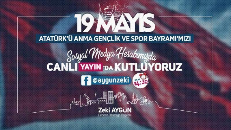 Derince'de 19 Mayıs coşkusu sosyal medyada yaşanacak