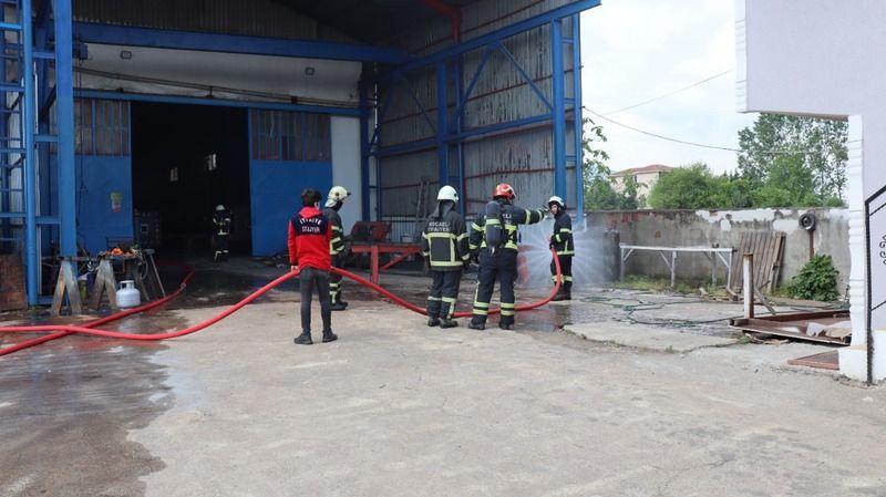 Fabrikada gaz kaçağından yangın çıktı