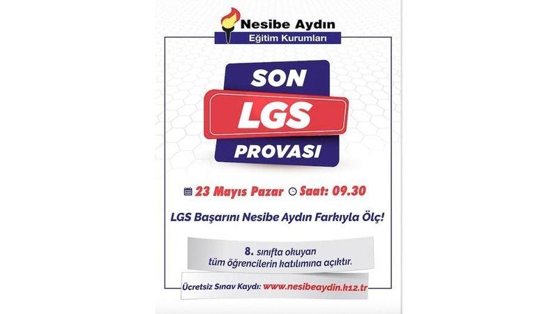 Son LGS provası Nesibe Aydın'da