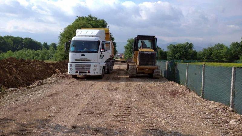 Köseköy sanayi bölgesine yeni yollar yapılıyor