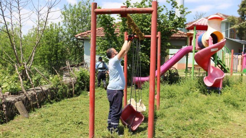 Köylerdeki parklar elden geçiriliyor