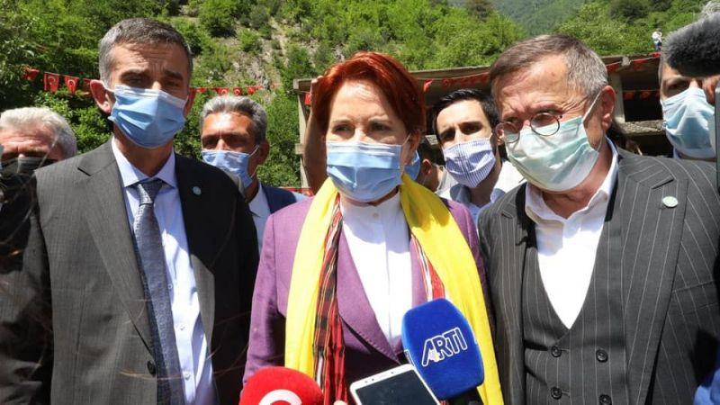 Akşener ve Türkkan'ı, Şanbaz Yıldız karşıladı
