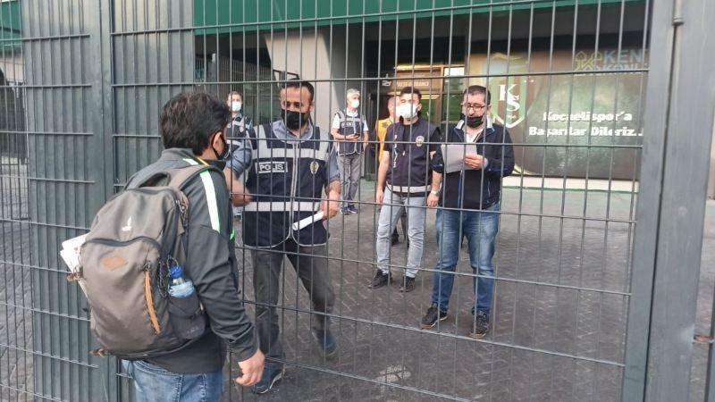 Gazeteciler giremedi