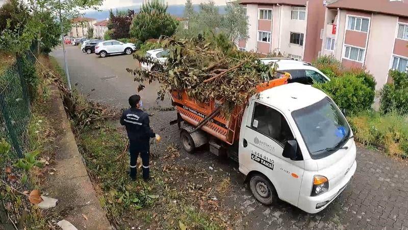 Başiskele'de çöp taksilerle süratli temizlik