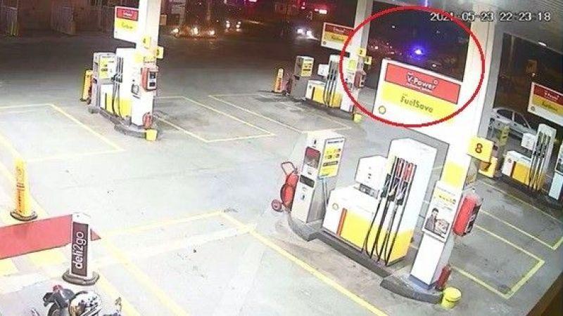 Alkollü sürücü denetim noktasına dalmıştı: Görüntüleri ortaya çıktı