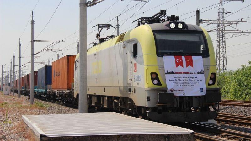 41 vagonlu 2 ihracat treni yola çıktı