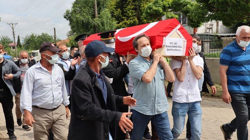Şehit polis memuru Kocaeli'de son yolculuğuna uğurlandı
