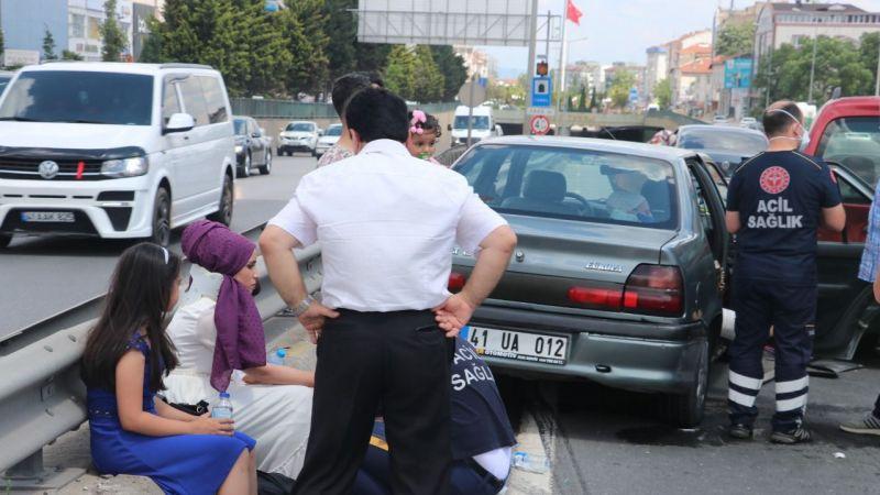 Düğün konvoyunda kaza: 4 yaralı