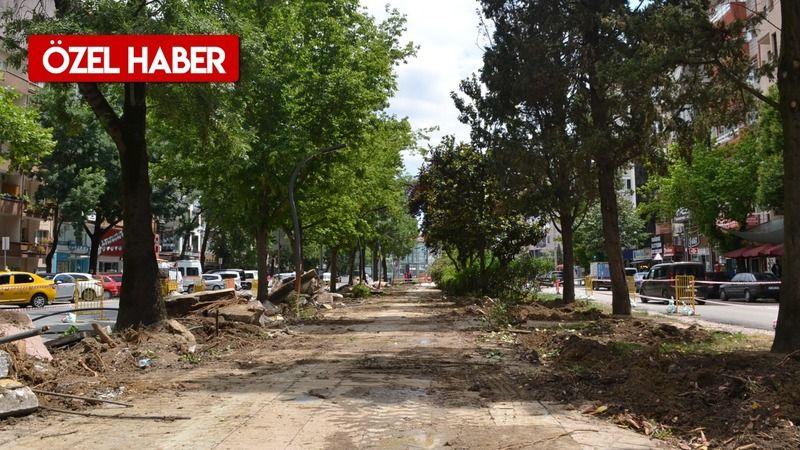 Yürüyüş Yolu'nda betonlar kırıldı