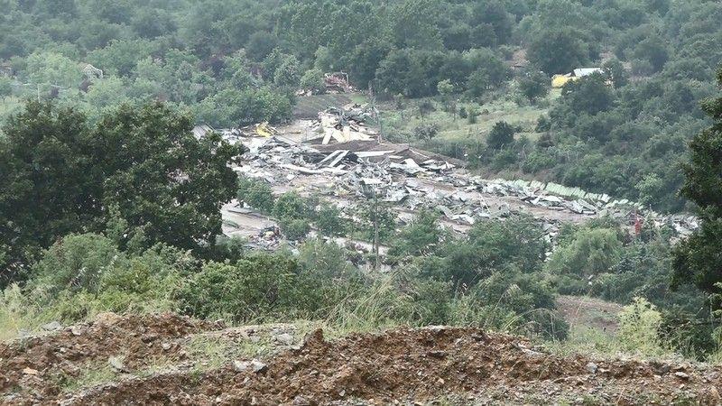 Lütfü Türkkan'ın kaçak çiftliğinde yıkım tamamlandı