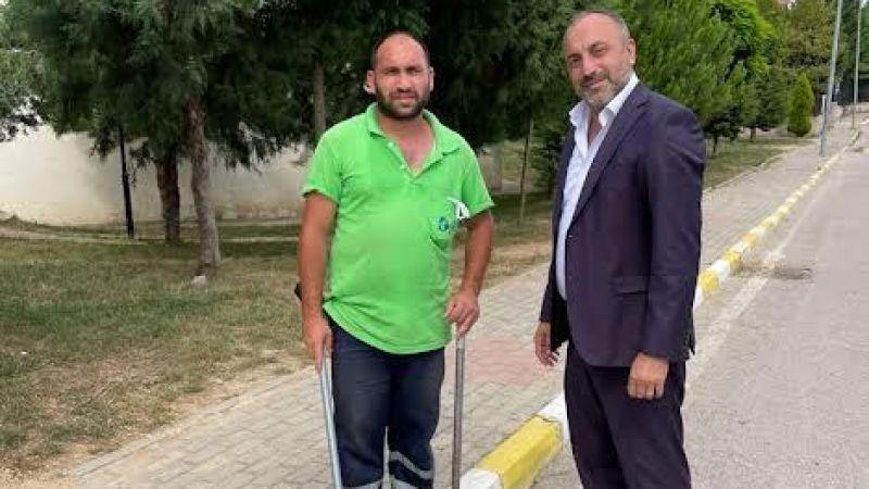 MHP'li Kazan'dan temizlik işçisine teşekkür