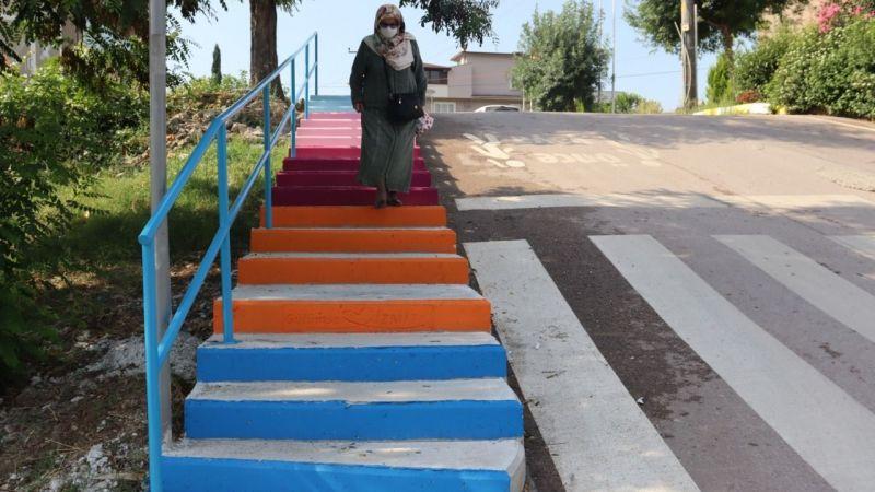 Üç yeni merdivenle ulaşım daha kolay