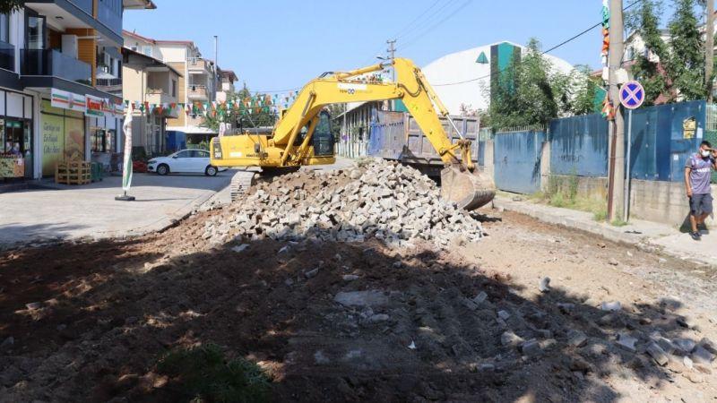 Yenişehir hastane yolu asfaltlanıyor