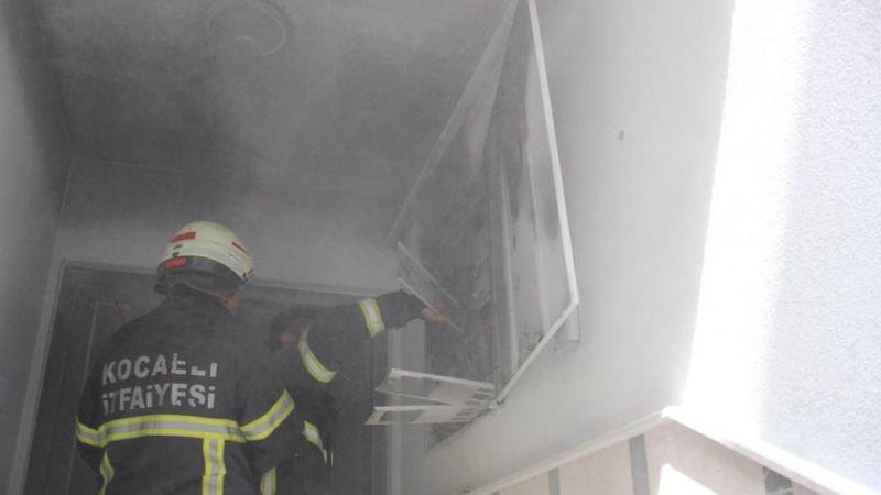 4 katlı binada yangın!