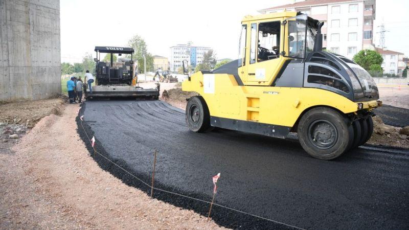 Ataevler köprü kavşağı'na 750 ton sıcak asfalt