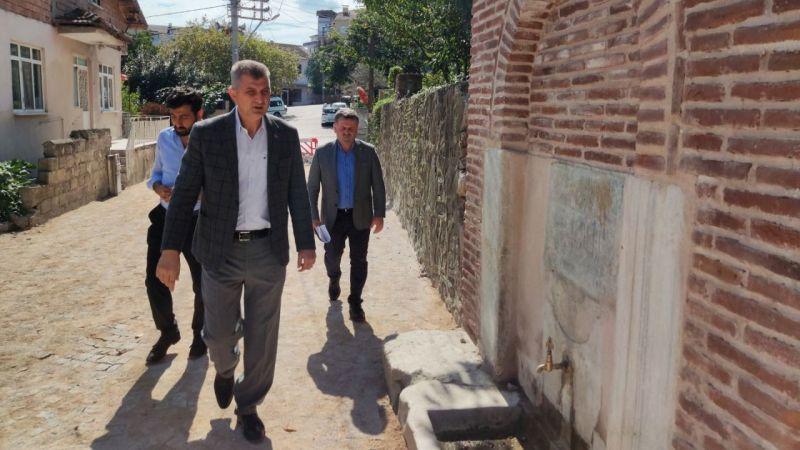 Örcün'de yol ve müze çevresi düzenlemeleri başladı