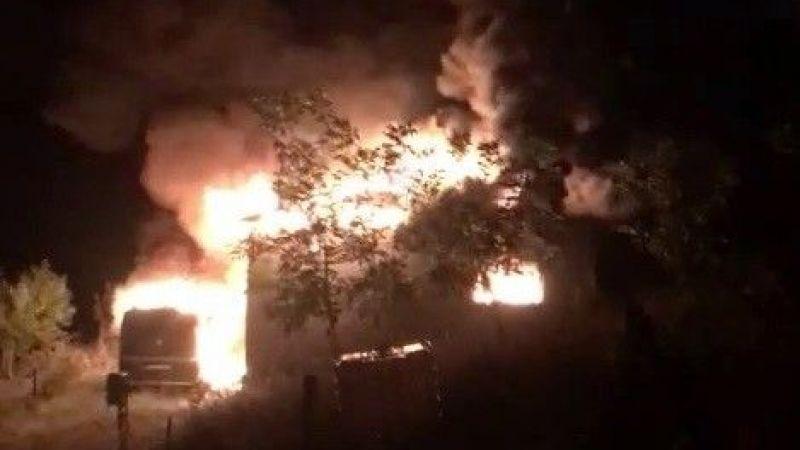 İşte 4 kişinin hayatını kaybettiği yangının görüntüleri