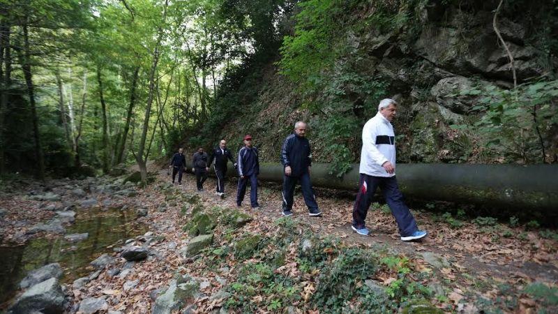 """Çınarlıdere'de """"Avrupa Hareketlilik Haftası"""" yürüyüşü"""