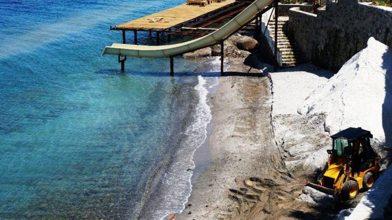 Mermer tozunu kumsala döken otellere 345 bin lira ceza