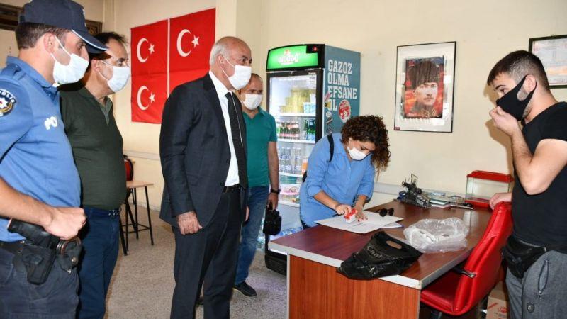 Covid-19 denetimlerine başkan Tuncel de katıldı
