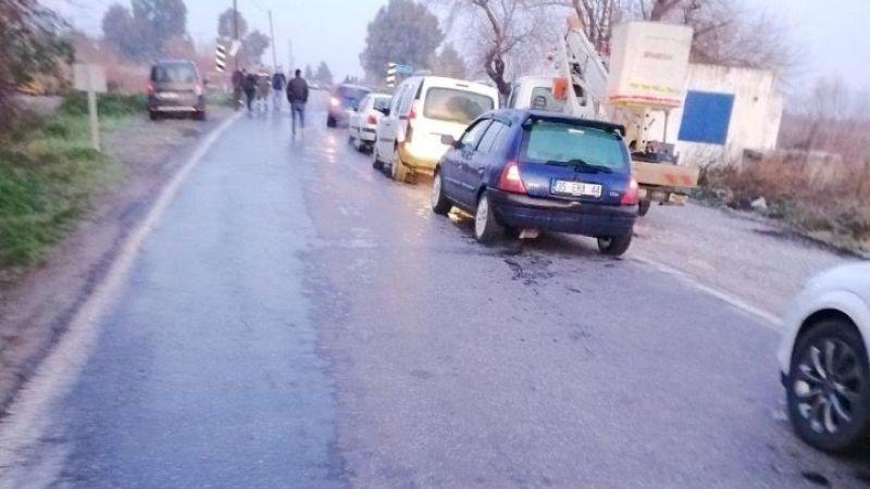 Söke'de buzlanma Trafik kazalarına neden oldu