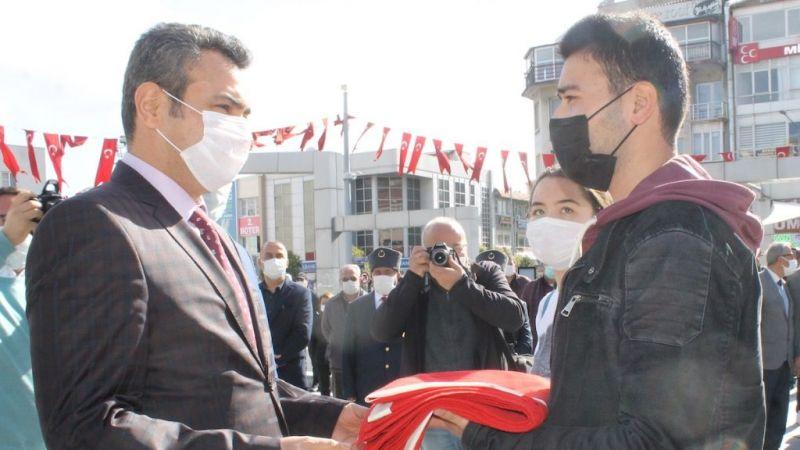 Atatürk'ün Söke'ye gelişi pandemi tedbirleri kapsamında kutlandı